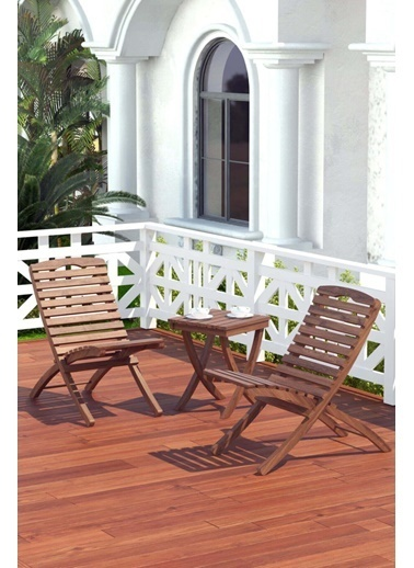 Meya Dekor Bahçe Balkon 2+1 Katlanabilir Masa - Sandalye Seti Bahçe Masası Bahçe Sandalyesi Renkli